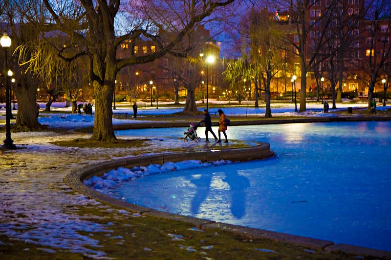 Winter Night. Boston