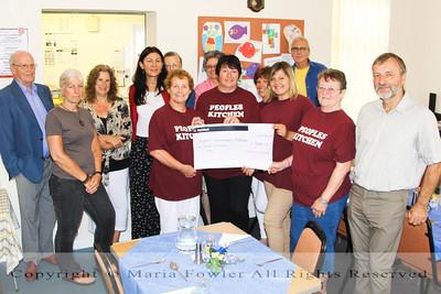 Harwich Secret Gardens Committee cheque presentation