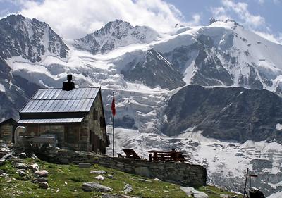 Some Alpine huts