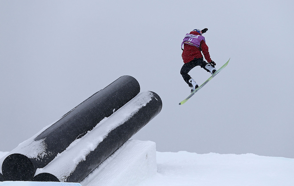 . Aimee Fuller of Great Brittain competes during qualifying for the women\'s FIS Snowboard Slopestyle World Cup at U.S. Snowboarding and Freeskiing Grand Prix on December 20, 2013 in Copper Mountain, Colorado.  (Photo by Mike Ehrmann/Getty Images)
