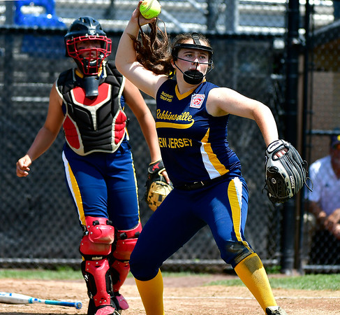 7/24/2019 Mike Orazzi | Staff New Jersey's Katie Ziliani (15) during Wednesday's Little League Softball game in Bristol.