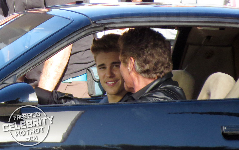 Justin Bieber Plays Knight Rider's KITT in Killing Hasselhoff!