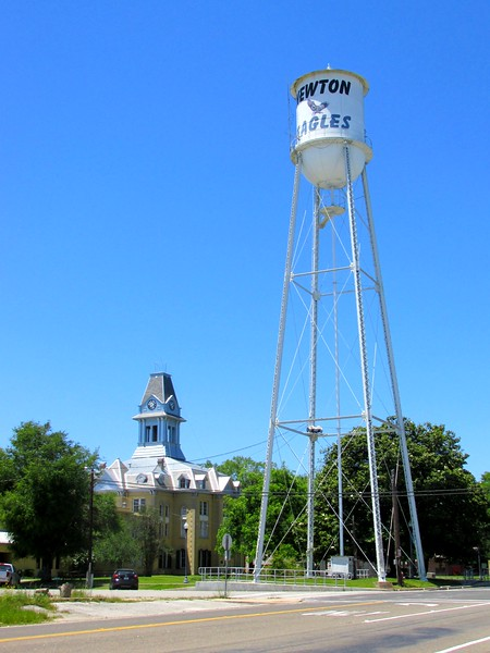 Newton County Courthouse and Water Tower