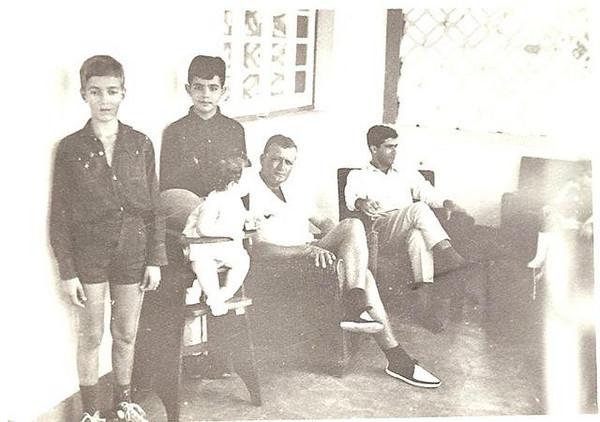 Jose' Teodosio e irmao Paulo, Mario Ribeiro, Teodosio e Antonio Jose'