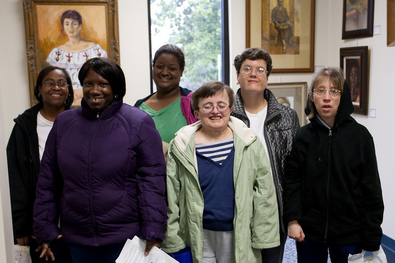 (left to right) Joyce, Mary, Crystal, Theresa, Karen, Michelle (from Camden Road Group Home in Wingate, NC)