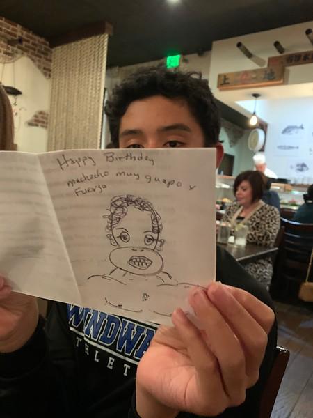 2019.10.04 Zachary birthday dinner at Izaka-ya