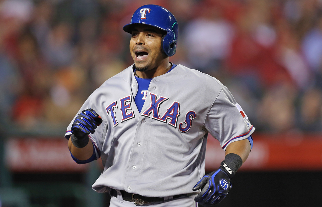. Nelson Cruz, outfielder,  Texas Rangers.  (Photo by Jeff Gross/Getty Images)