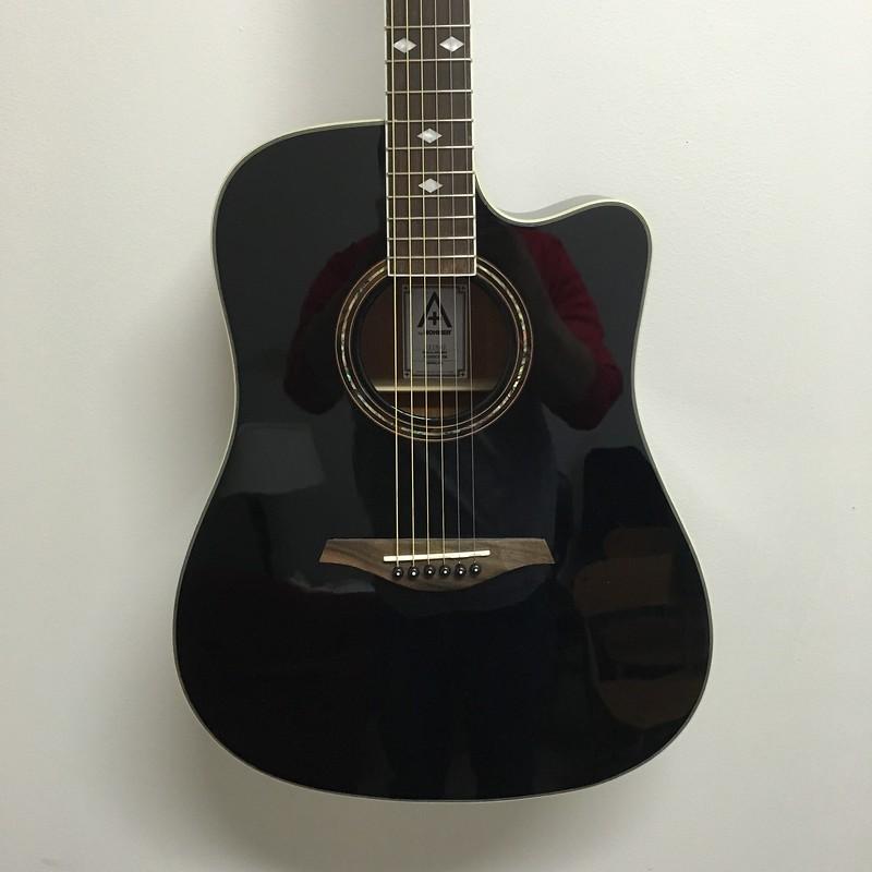 Hohner A+ Dreadnought Guitar A/E Black