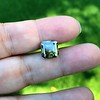4.57ct Fancy Dark Greenish Yellow Brown Asscher Cut Diamond GIA 4