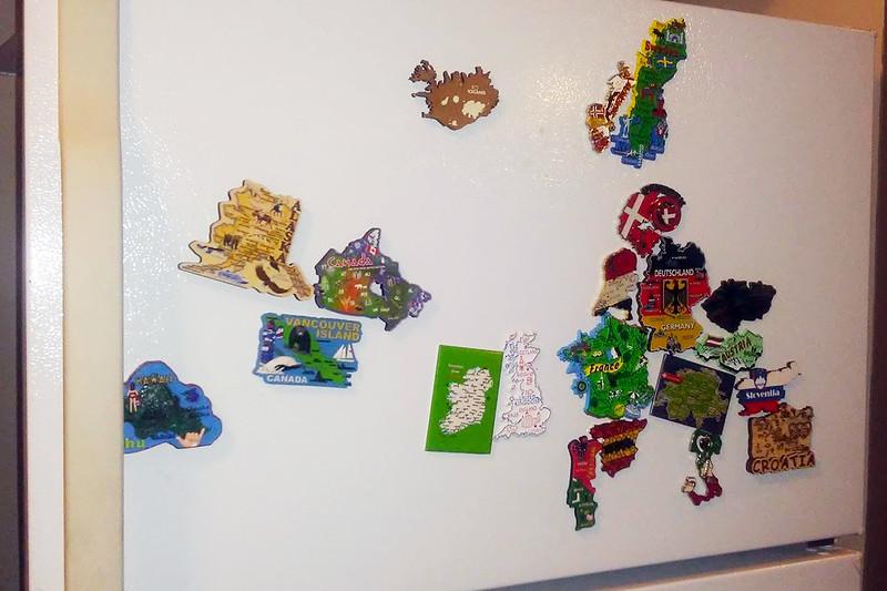 map magnets souvenir