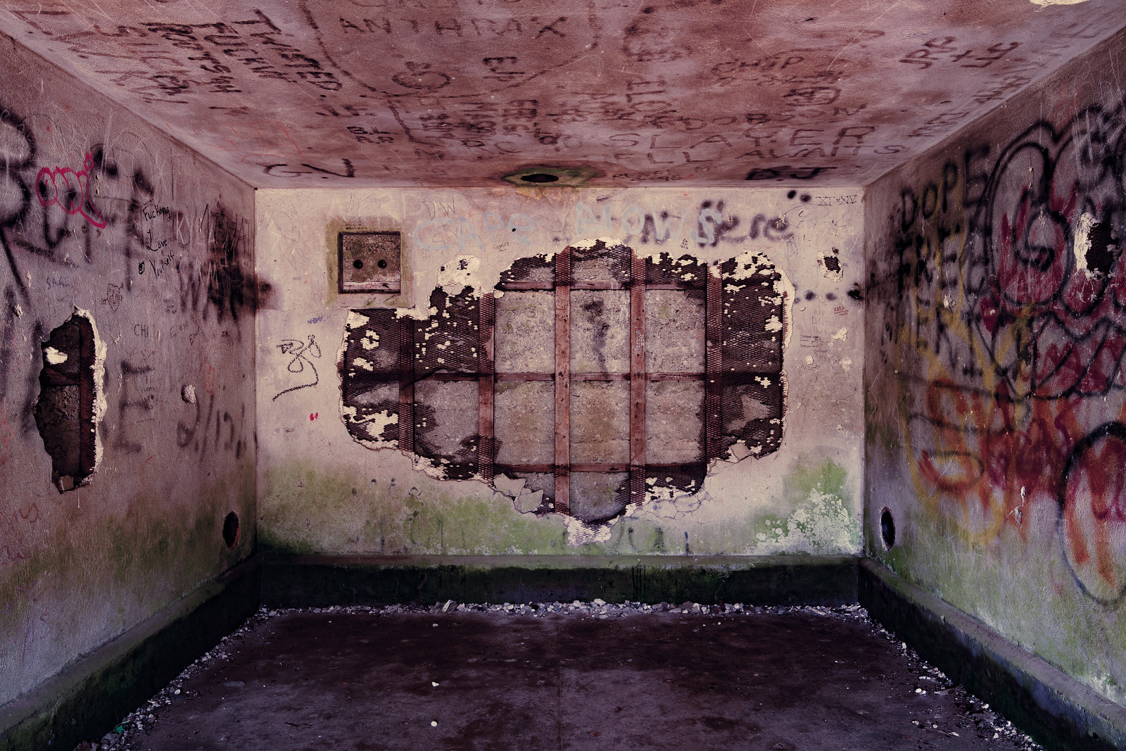 Fort Williams Bunker Interior. Click for download an print options.