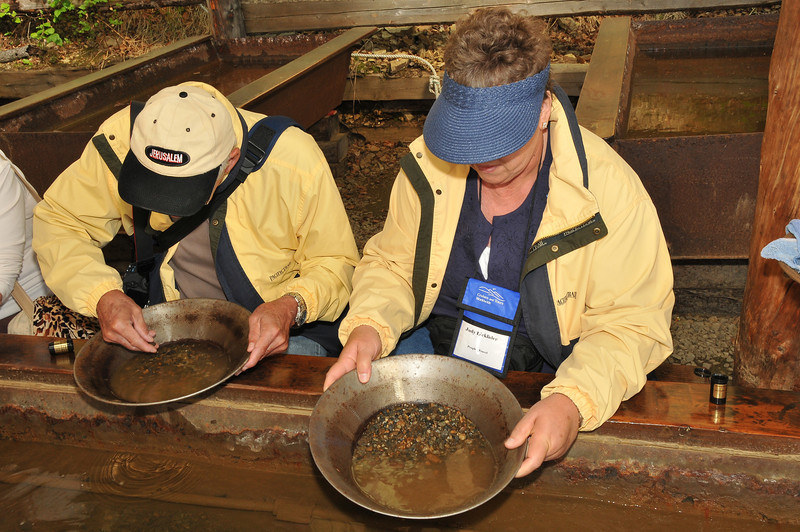 El Dorado Gold Mine, panning for gold