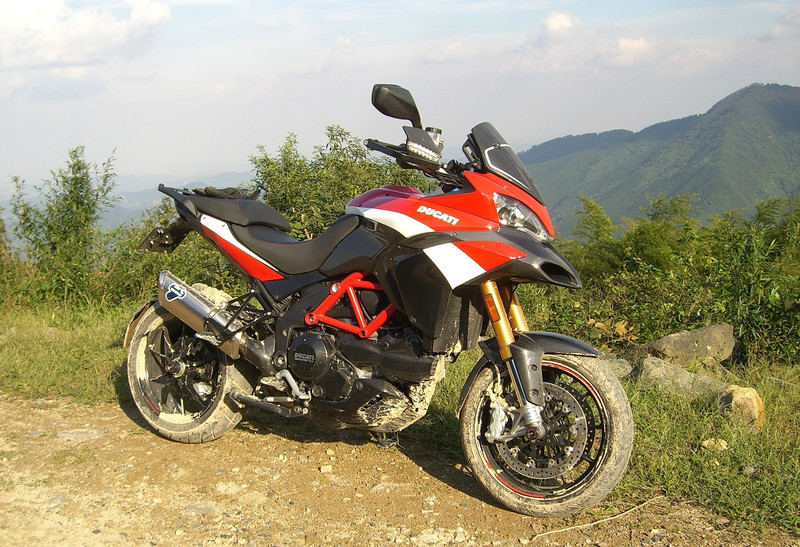 "1/3: Multistrada 1200 Pikes Peak off road after a session in the mud! - by 'Butch' (China) - ""Anjii / Moganshan area in Zhejiang Province (my favorite playground 2 hrs. ride from Shanghai)"""