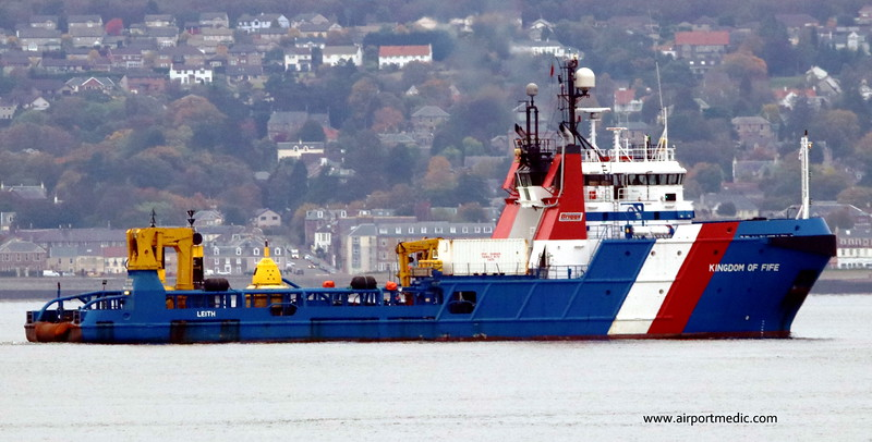 Kingdom of Fife (Offshore Tug) on the Clyde