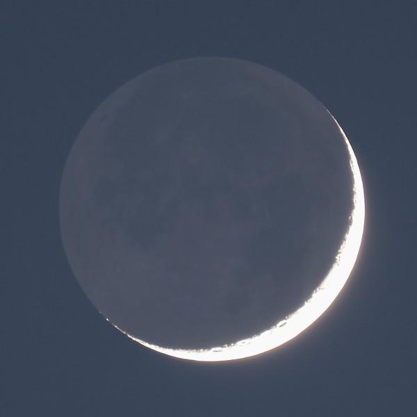 Earthshine 7% 14th April 2021
