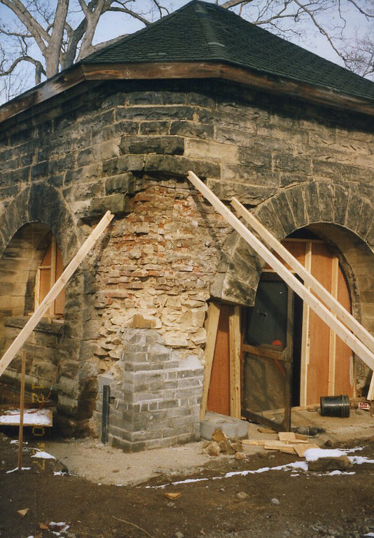 . Renovations at the James A. Garfield National Historic Site, February 1998.(courtesy James A. Garfield National Historic Site)