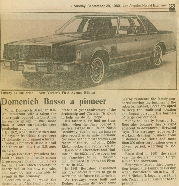 1980, LA Herald Examiner Article