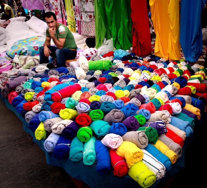 Market vendor, Kadikoy district, Istanbul.