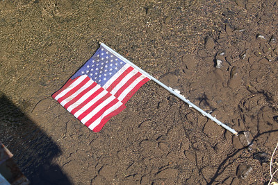 American Flag Tossed in River, East Broad St, Tamaqua (7-14-2011)