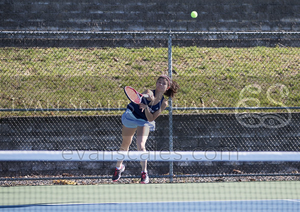 Mustangs Girls' Varsity Tennis - Apr. 20, 2016