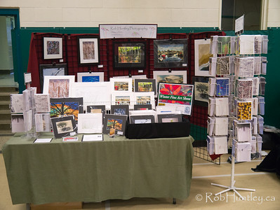 My booth at Fisher Park Community Centre Craft Fair (2012), similar to the setup at Churchill School Craft Fair one week earlier.  © Rob Huntley