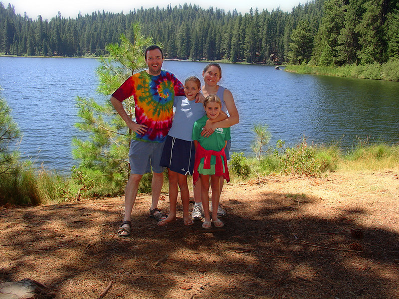 This is the starting image - a photo of all of us at Family Camp (Lake Sequoia in the background).