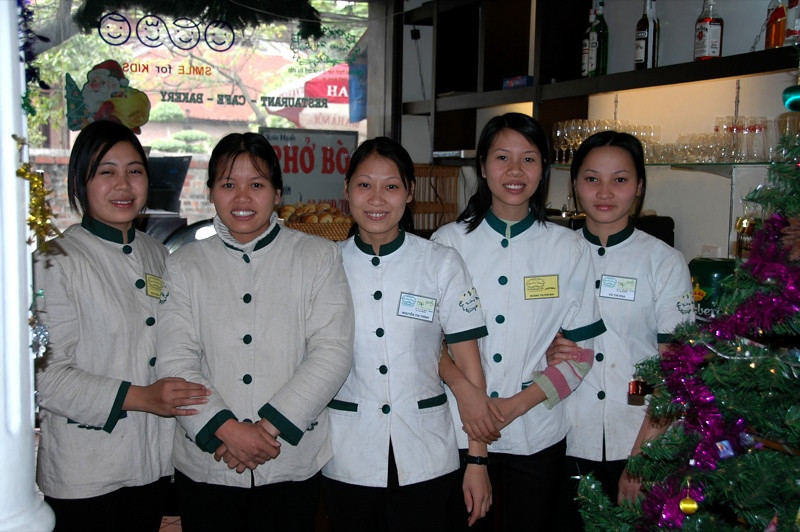 Smile Cafe's Staff - Hanoi, Vietnam