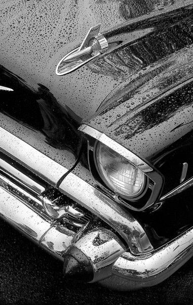 57 Chevrolet in the rain