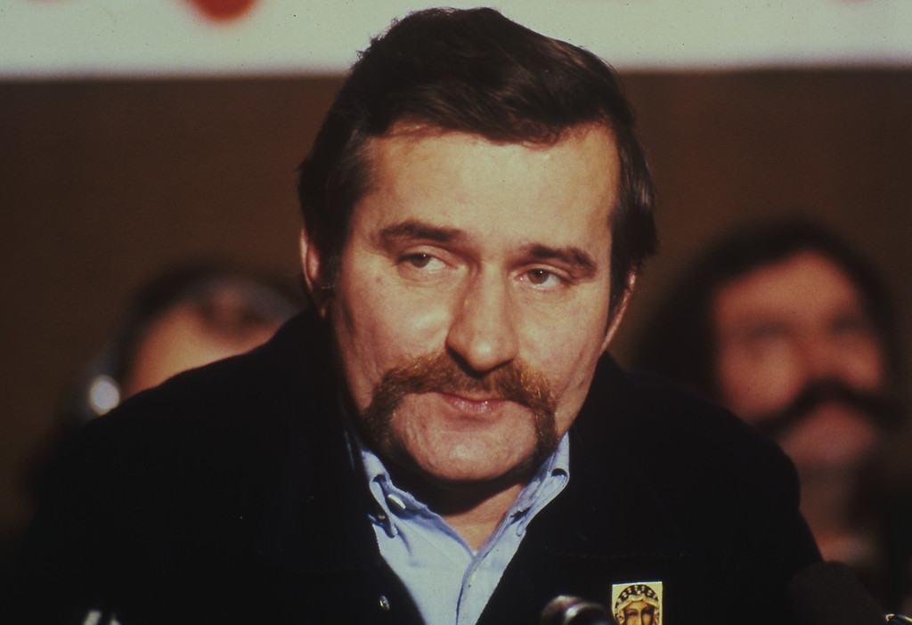 ". 1981: Lech Walesa. 1981 portrait of Lech Walesa, former head of the striking workers delegation and leader of the forbidden Polish ""Solidarity Movement"", in Poland. (AP Photo)"