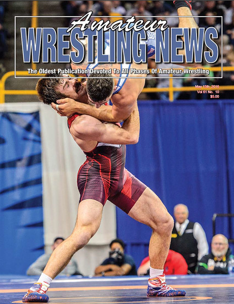 Amateur Wrestling News Cover, May, 2016