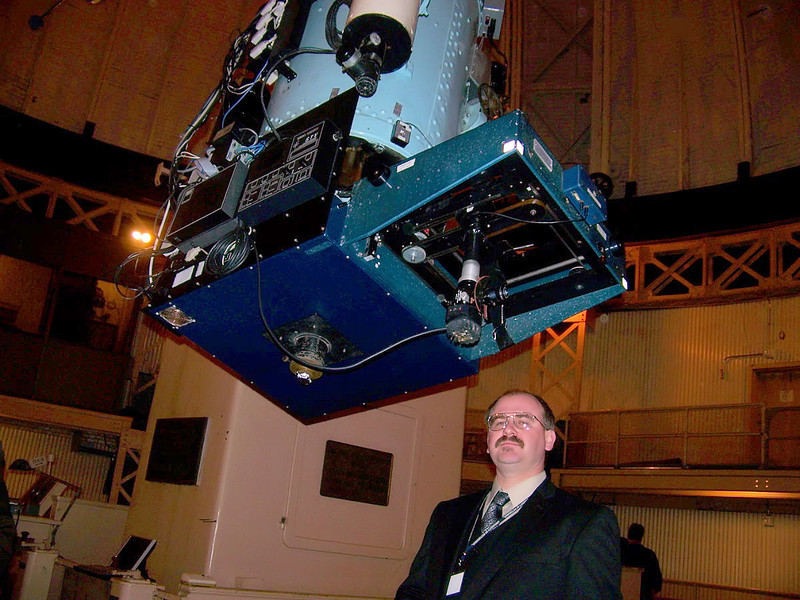 Nick Martch stands here as the operator of the 30 inch Thaw Telescope.