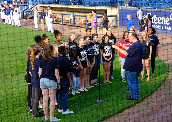 Ava Sings at Blue Rocks Game