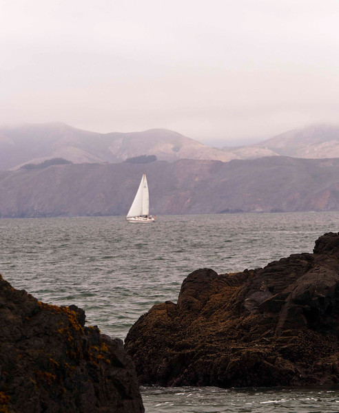 Traffic on the Bay, Marin Headlands