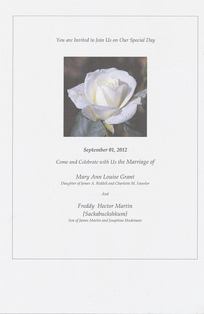 Hector Martin Mary Ann Grant Wedding 2012Sept01