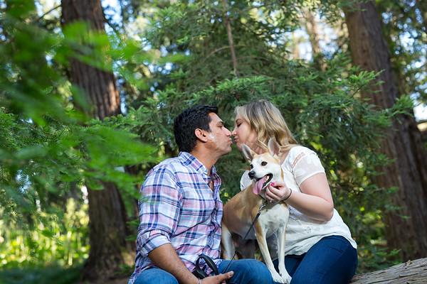 Chelsea and Deep Engagement Portrait / Davis Arboretum