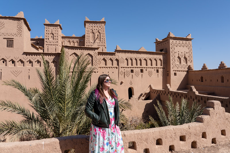 Amanda at Kasbah Amridil