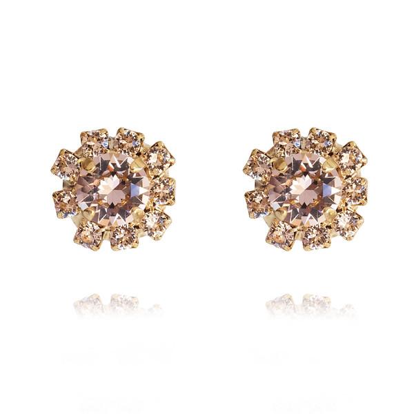 Aello Stud Earrings / Silk / Gold