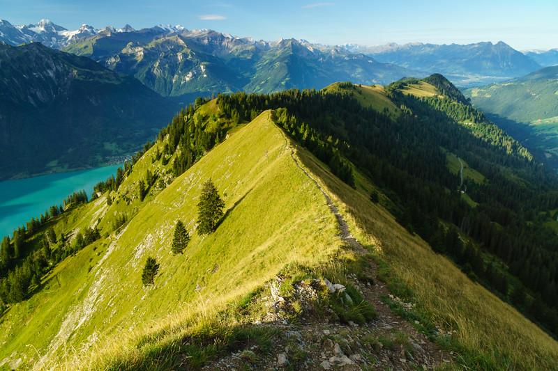 Looking back down the trail towards Interlaken, Switzerland.