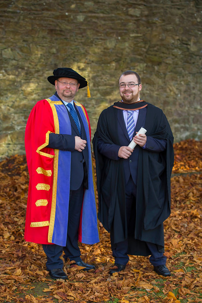 04/11/2016. Waterford Institute of Technology (WIT) Conferring Ceremonies November 2016:  Pictured is William Ryan from New Ross who graduated, also pictured is Dr Derek O'Byrne, Registrar WIT . Picture: Patrick Browne