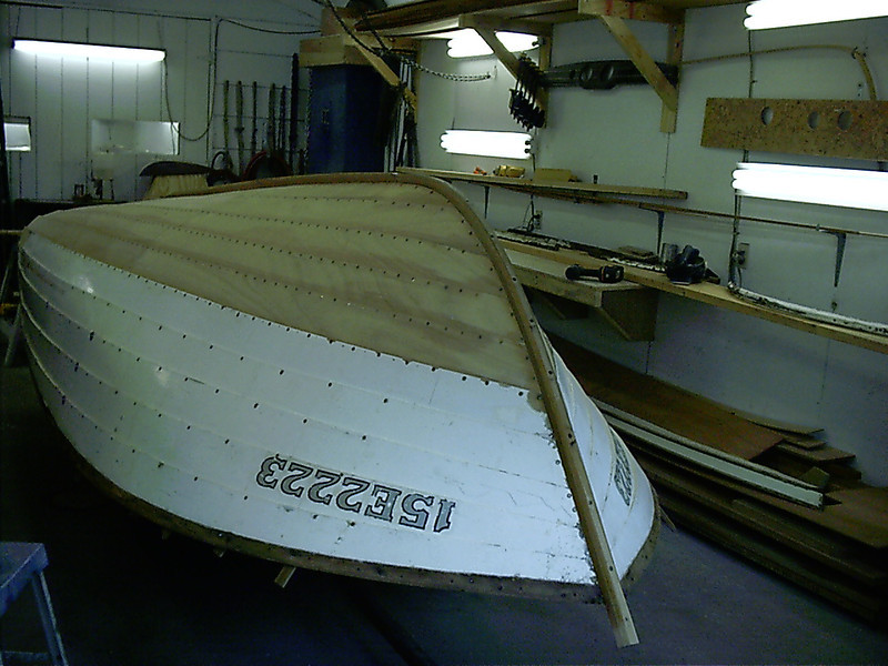 Front view of new keel.