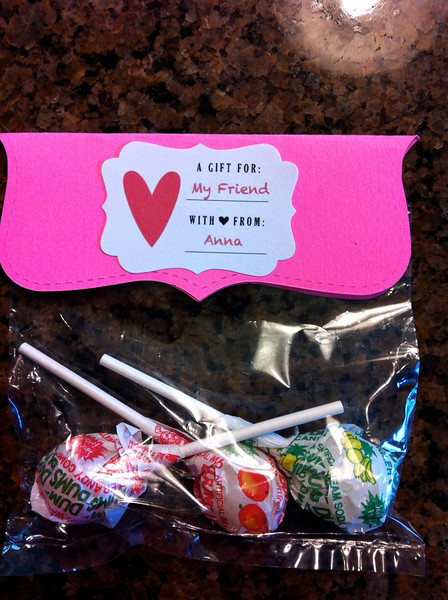 Anna's valentines for her class party