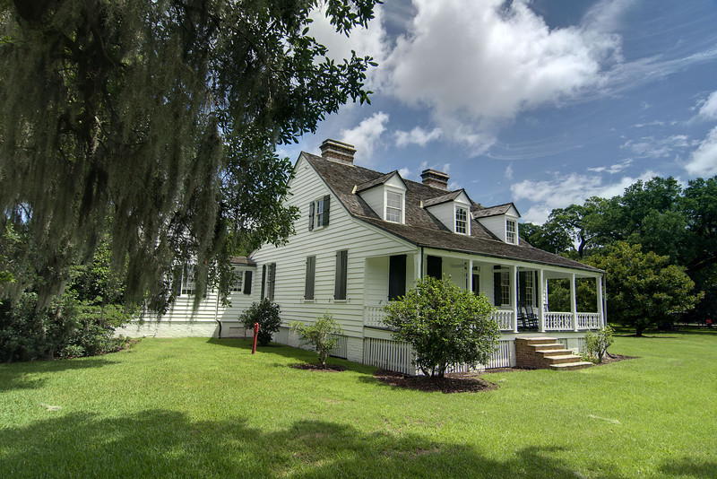 The main house and visitor center at the Charles Pinckney National Historic Site in Mt. Pleasant, SC on Monday, July 7, 2014. Copyright 2014 Jason Barnette