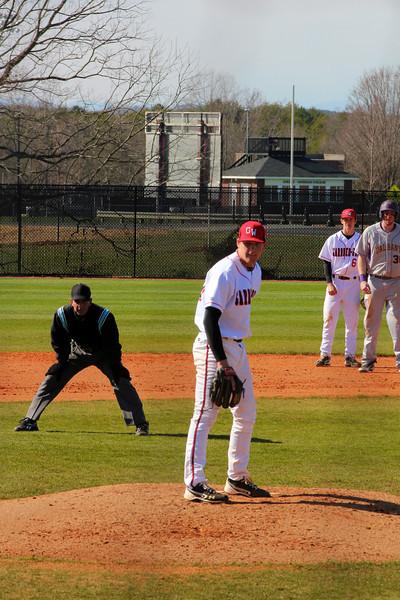 Pitcher, No. 30, Beau Hilton and 2nd baseman, No. 6, Ryan Hodge