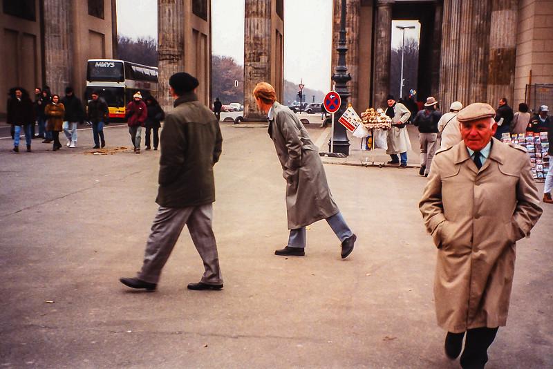 1995, Bing Lucas and Hal Eidsvik at Brandenburg Gate in Berlin