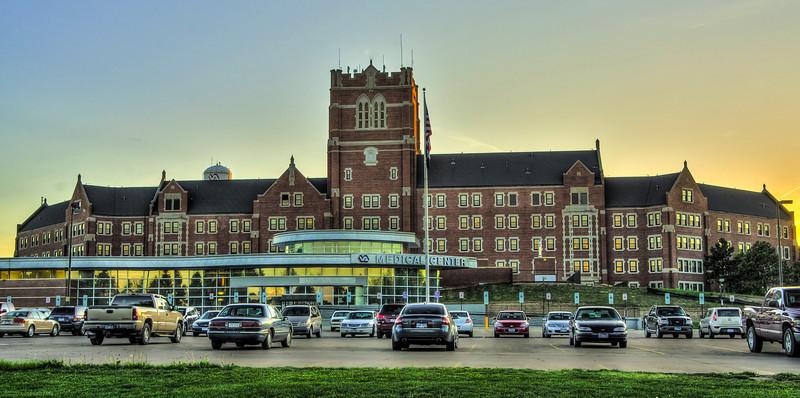 VA Medical Center Entrance Panorama