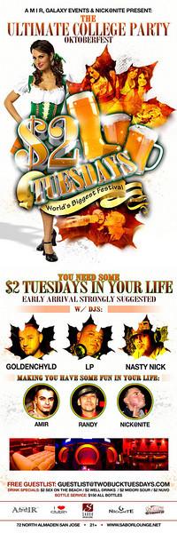 $2 Tuesdays @ Sabor Tapas Bar & Lounge  10.20.09