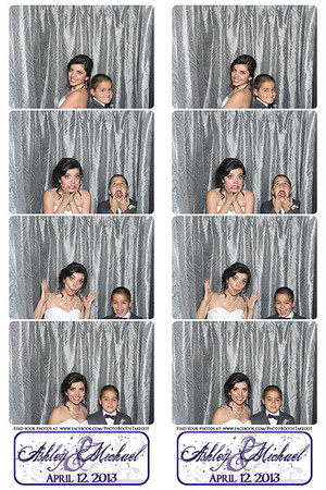 Ashley and Michael's Wedding - Photo Booth Strips