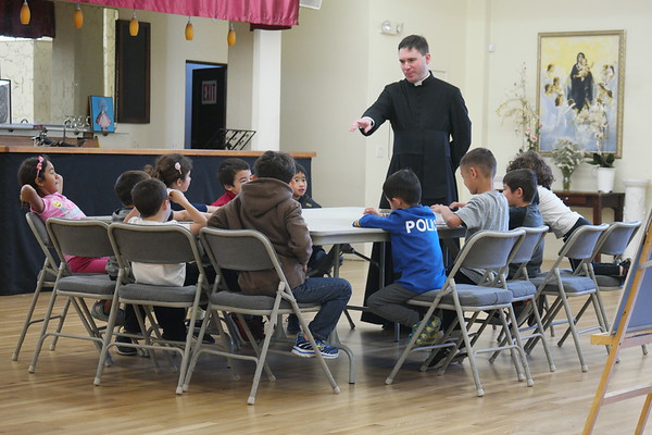 Canon Huberfeld's Visit (Catechism & Society of the Sacred Heart meeting)