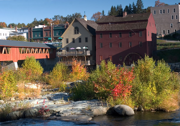 New England Mill on a Rocky River