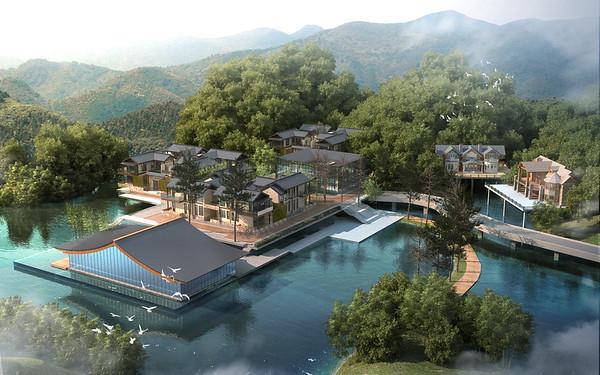 Magnolia Mountain Scenic Spot phase I Wooden hotel玉兰山风景区一期木屋酒店